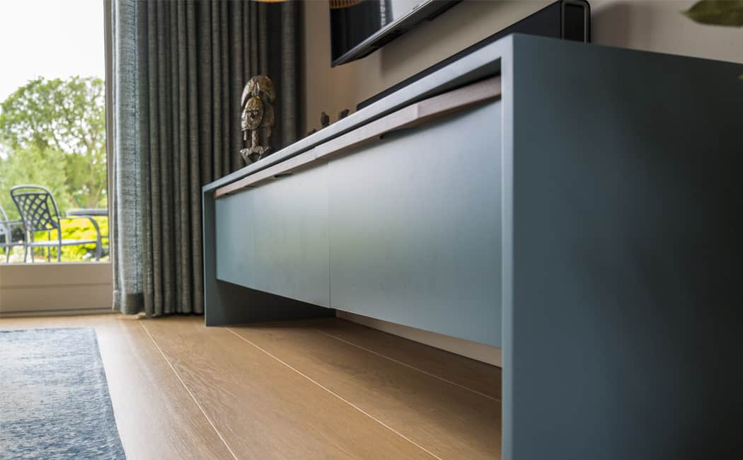 5 Media Unit with Kitchen Cabinetry Detail
