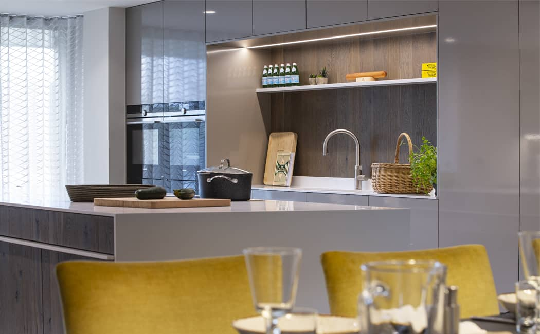 Siemens Integrated Ovens and Sink Area Niche